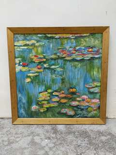 Oil Painting of Claude Monet's Water Lilies