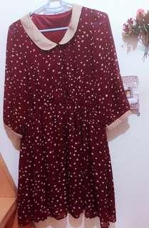 闆娘私物-紅色點點洋裝(古著、復古風)