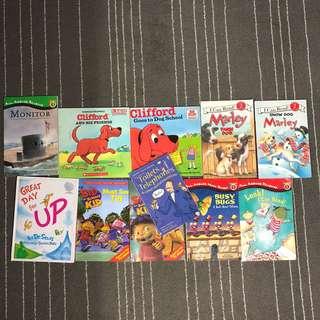 A bundle of children books
