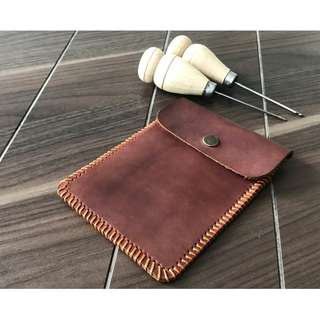 Passport Holder Bag Handmade Genuine Leather  ( Customizable  + engraving)