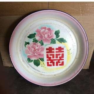 Chinese Enamel Wedding Tray