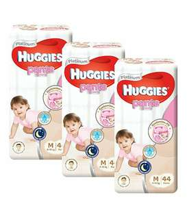 FREE DELIVERY HUGGIES PLATINUM PANTS SIZE M FOR GIRLS