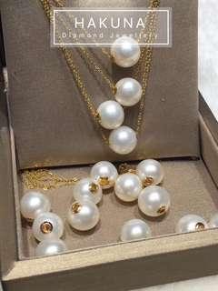18K金珍珠串飾吊墜