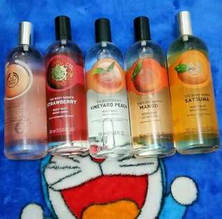 The Body Shop Body Mist 100ml Original Reject All Variant