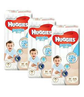 FREE DELIVERY HUGGIES PLATINUM PANTS SIZE M FOR BOYS