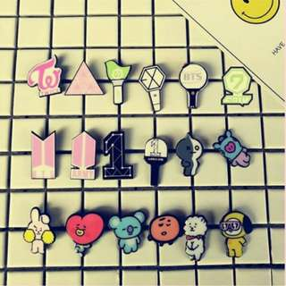 kpop pin tag button