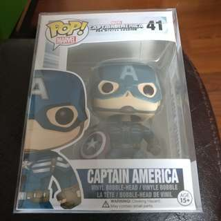 Funko pop captain america the winter soldier with protector
