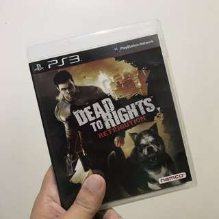 Dead To Rights Retribution For PS3