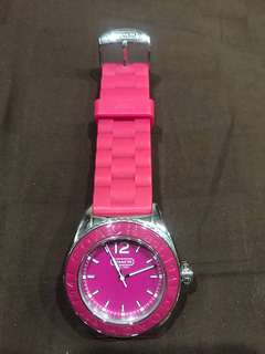 Coach pink watch