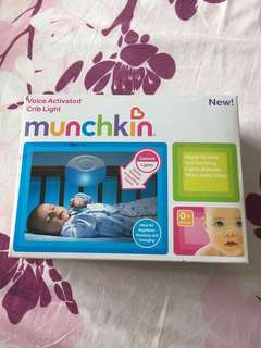 *Brand new Munchkin Voice Activated Crib Light