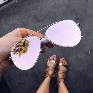 ❗️全新 美國太陽眼鏡 aviator flat lens sunglasses (pink)
