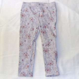 Charity Sale! Floral Baby Girl Tights Pants Size 2T Girls 24 Months