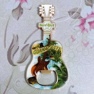 Hard Rock Cafe 'Bottle Opener' Guitar Magnet