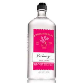 Aromatherapy by Bath and Body Works Recharge Sage and Mint Body Wash