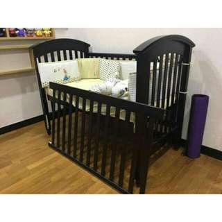 Baby Cot + coconut fiber mattress
