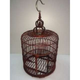 Big Red Bird Cage Decor for RENT