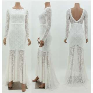 Lace gown - V style Back