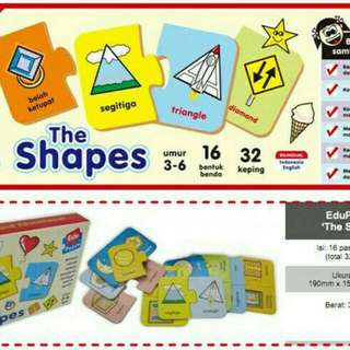 Mainan Edukasi Puzzlo The Shapes