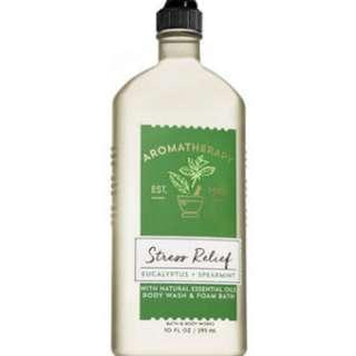 Aromatherapy by Bath and Body Works Stress Relief Eucalyptus and Spearmint Body Wash