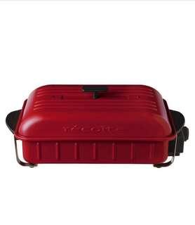 全新 Recolte RBQ-1 日式電熱鍋 多用途烤盤 Home BBQ Table Cooking Plate