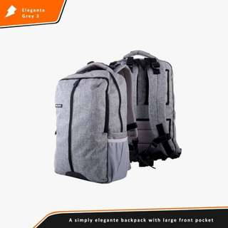 TAS RANSEL BACKPACK ELEGANTE GREY