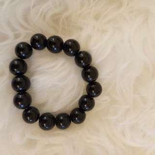 Bracelets - Gelang - Black Solid - Hitam