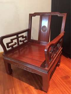 紅木古董椅子 Red Wood Antique Chair