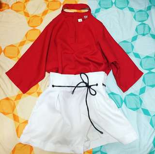 Kpop Two pieces Pretty Red clothes