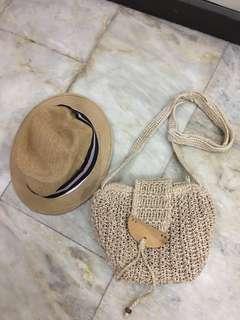 Ladies Summer Bag + Beach Hat