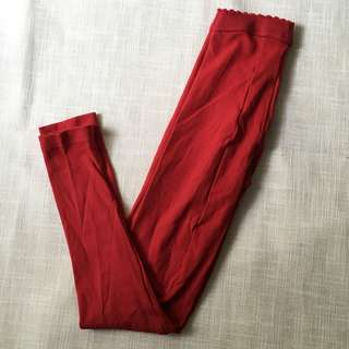Charity Sale! Authentic Yvonnes Red Tights Size 7-9 Made in Philippines