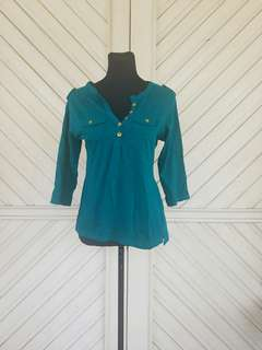 IMPORTED!!! Green 3/4 Blouse