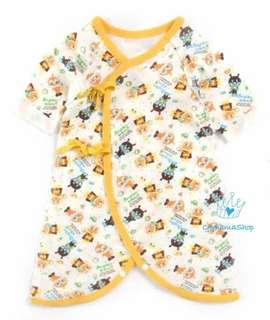 出口 Anpanman 純棉 初生 嬰兒 BB 兩用款 無骨 蝴蝶衣 和尚袍 偏衫