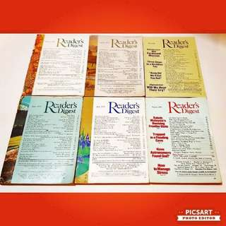 1970s Vintage READER'S DIGEST. Good Condition, all pagers intact. 6 books for $18 clearance offer! Sms 96337309.
