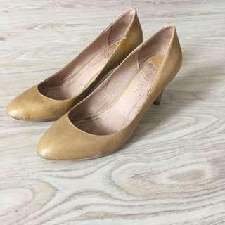 Sand coloured heels