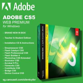 BNIB Adobe Creative Suite 5 CS5  - Web Premium (for Windows)