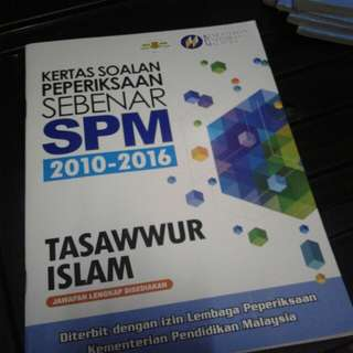 SPM past year Tasawwur Islam 2010-2016