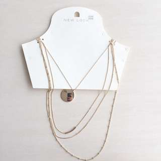New Look Gold Coin Layers Necklace