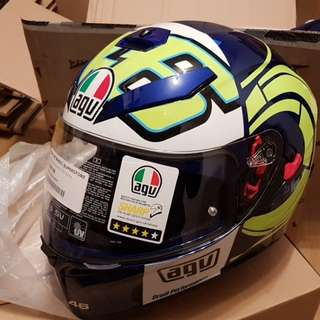 Helmet AGV Winter Test 2012 Kendo Blue White Special Edition