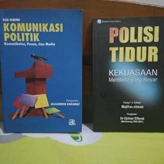 Dua buku. Bisa beli satuan ( Komunikasi Politik by Jalaluddin Rakhmat Dan Polisi Tidur by Mujiburrahman)