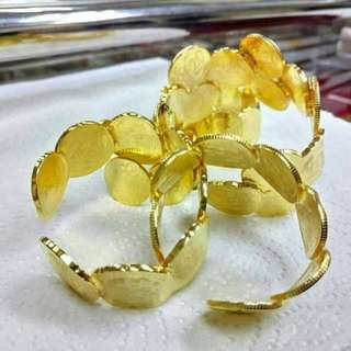 Gelang Syiling emas 50&20sen