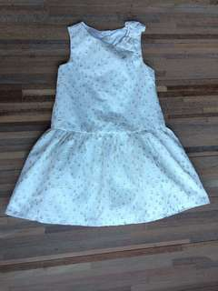 Gymboree Cream Gold Shimmering Dot Dress 3T
