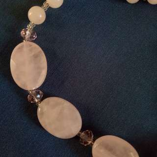 Kalung Wanita - Women Necklace -  Pink Dust Stone