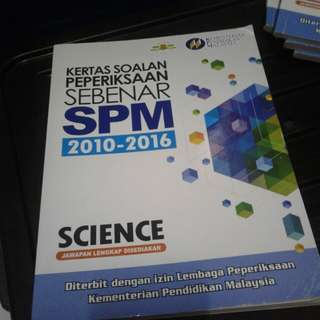 SPM past year Science 2010- 2016