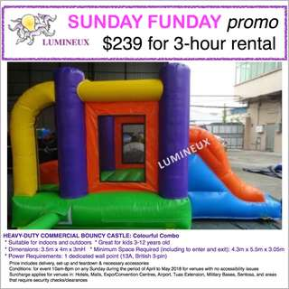 April/May PROMO: PARTY EQUIPMENT RENTAL