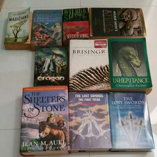 Famous fantasy books novel adventure magic