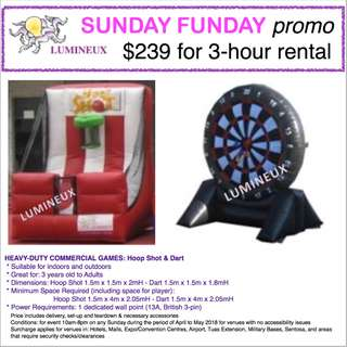 Promo: SUNDAY Special - rent equipment at special price in April/May