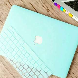 Pastel Mint Rose Blush Pink Purple Macbook Laptop Case
