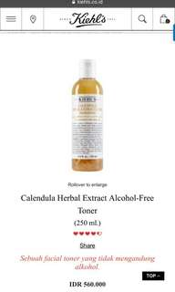 CALENDULA HERBAL TONER SHARE IN BOTTLE