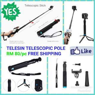 Monopod Telesin Telescopic Pole with Tripod