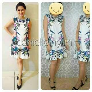 🌞Floral ruffles hemline dress